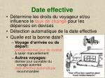 date effective