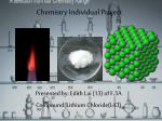 chemistry individual project