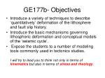 ge177b objectives