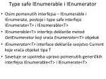 type safe ienumerable i ienumerator