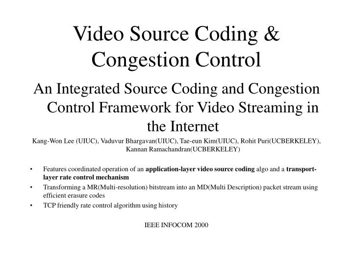 video source coding congestion control n.