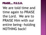 praise p u s h