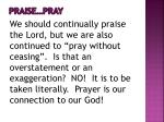 praise pray