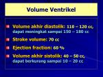 volume ventrikel