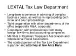 lextal tax law department