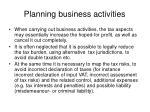 planning business activities