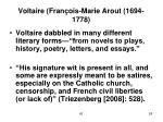 voltaire fran ois marie arout 1694 1778