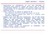 legal matters claims
