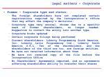 legal matters corporate
