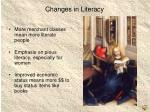 changes in literacy