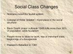 social class changes