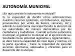 autonom a municipal