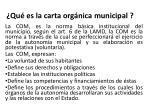 qu es la carta org nica municipal