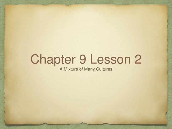 chapter 9 lesson 2 n.