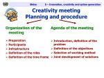 creativity meeting planning and procedure