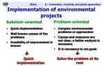 implementation of environmental projects