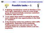 possible tasks 1