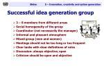successful idea generation group