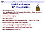 useful addresses cp case studies