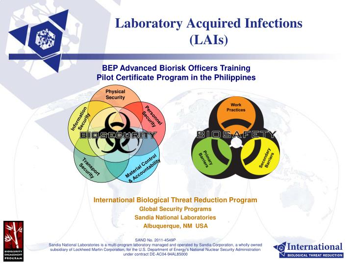 laboratory acquired infections lais n.