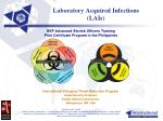 laboratory acquired infections lais