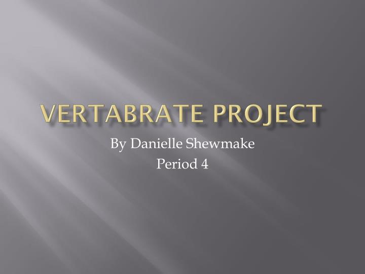 vertabrate project n.
