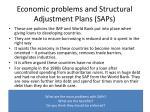 economic problems and structural adjustment plans saps
