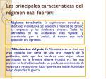 las principales caracter sticas del r gimen nazi fueron
