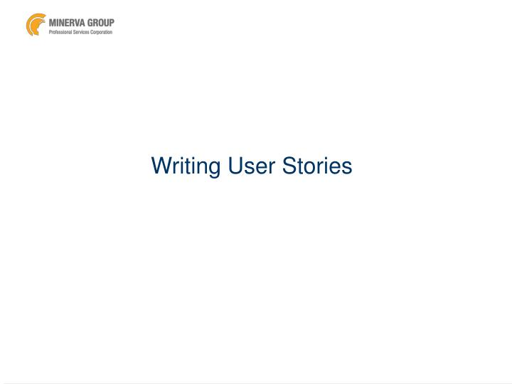 writing user stories n.