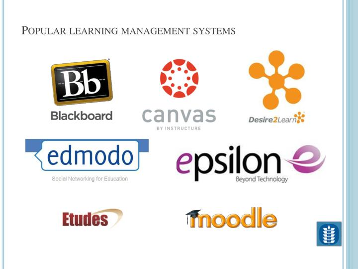 Popular learning management systems