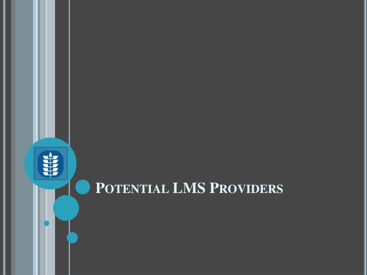 Potential LMS Providers