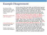 example disagreement