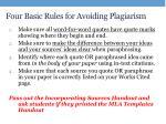 four basic rules for avoiding plagiarism