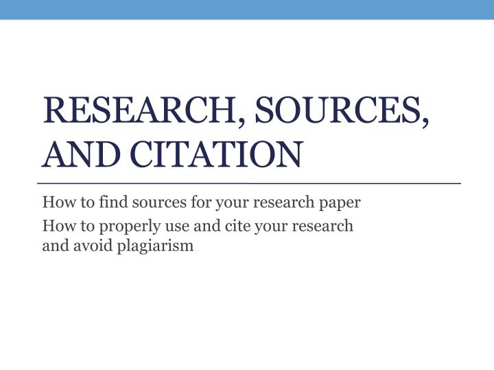 research sources and citation n.