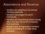 associations and revenue