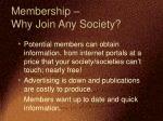 membership why join any society