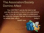 the association society domino affect