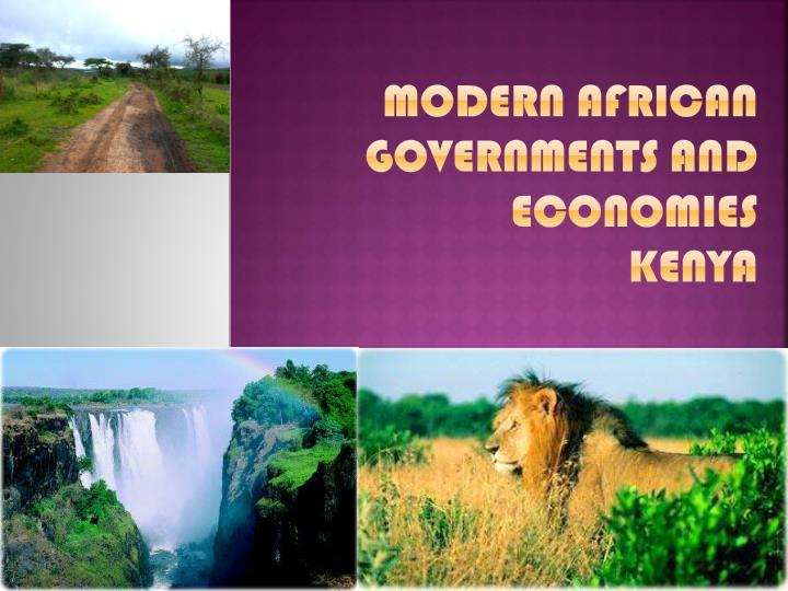 modern african governments and economies kenya n.