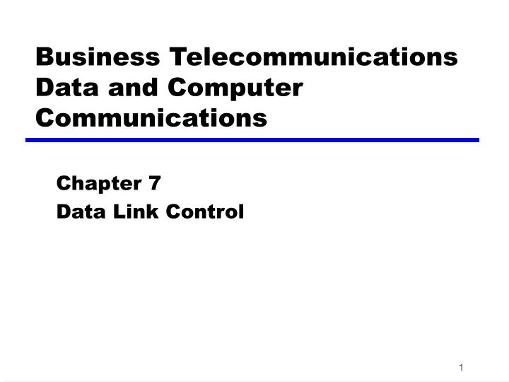 business telecommunications data and computer communications n.