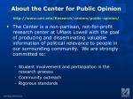 about the center for public opinion