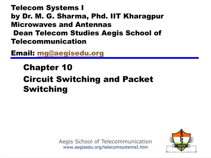 chapter 10 circuit switching and packet switching n.