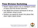 time division switching