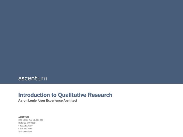 introduction to qualitative research n.