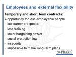 employees and external flexibility