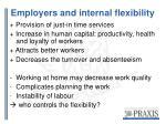 employers and internal flexibility
