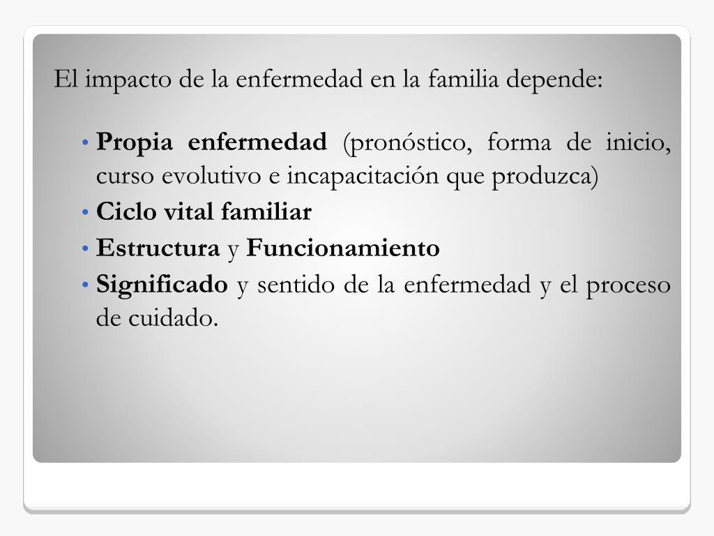 Ppt El Impacto De La Enfermedad En La Familia Powerpoint