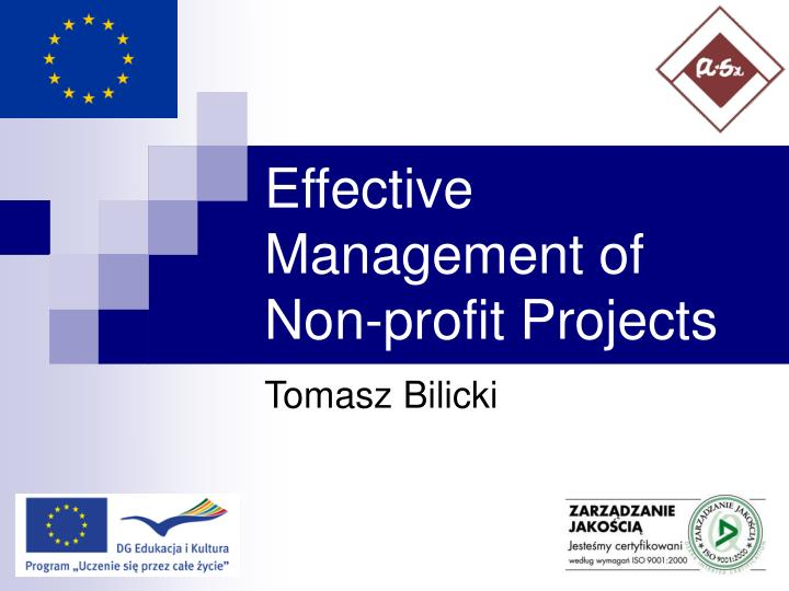 effective management of non profit projects n.