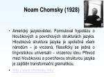 noam chomsky 1928