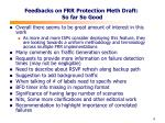 feedbacks on frr protection meth draft so far so good