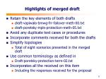 highlights of merged draft